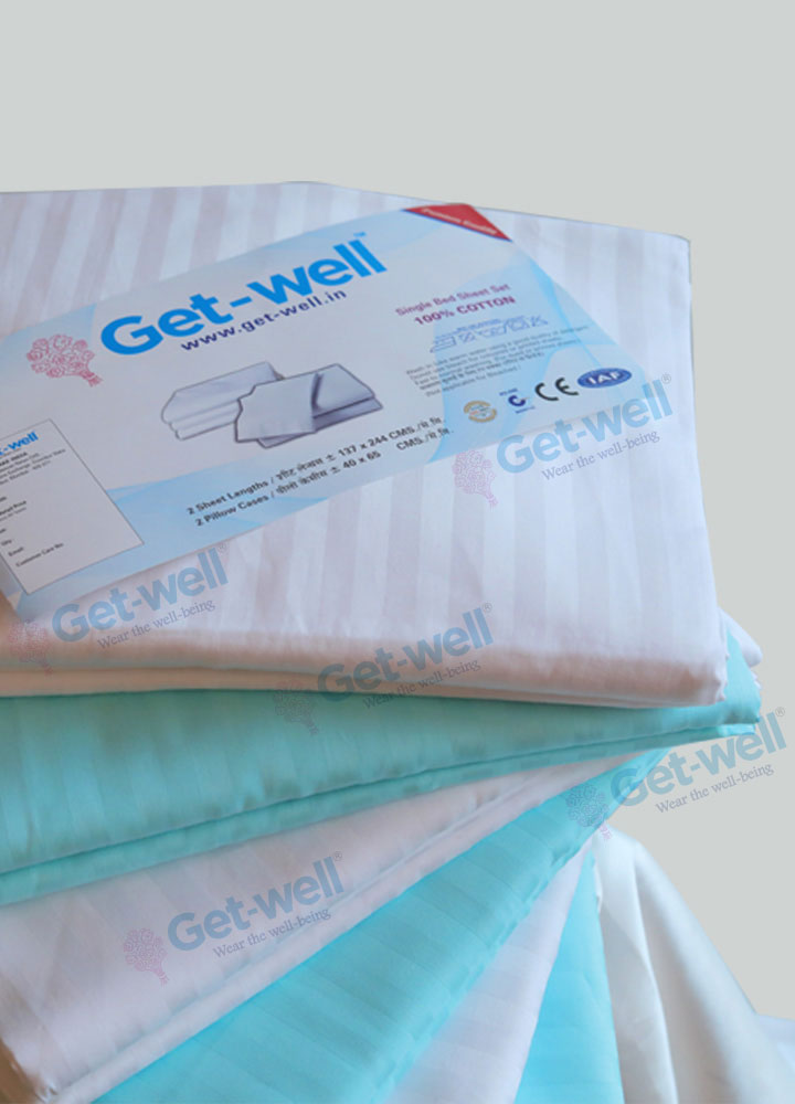 Hospital Bedsheet and Pillow Cover